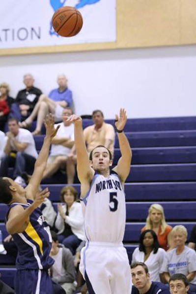 Noah Keeton shoots during a game for Northwood University this season. Keeton, a 2008 Lincoln County graduate, closed his four-year career at Northwood by helping the Seahawks reach the NAIA¿Division II championship game, and he finished with more than 1,000 points and more than 100 wins.