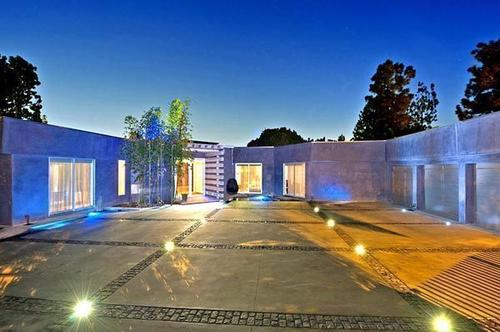 Fashion entrepreneur Tonny Sorensen used lighting to create blue hues at his remodeled house in Beverly Hills.