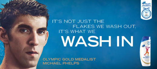 Michael Phelps pitches Head & Shoulders