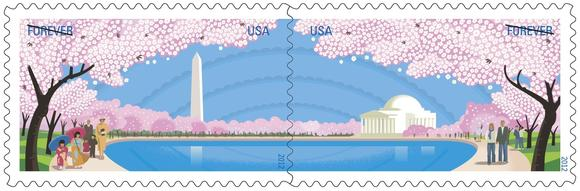 Cherry Blossom Festival 45-cent Forever stamp dedicated March 24, 2012.