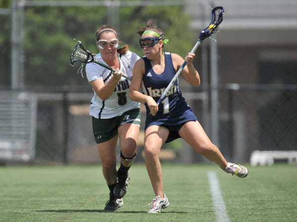 Loyola defender Ana Heneberry (left) was the 2012 Big East Conference Preseason Defensive Player of the Year.