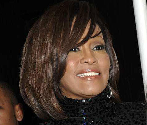 Whitney Houston arrives at Clive Davis' annual pre-Grammy party in Beverly Hills.