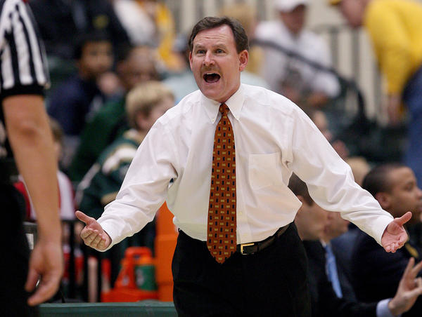 William & Mary coach Tony Shaver argues a call during the first half against Iona Wednesday at W&M. No Mags, No Sales, No Internet, No TV