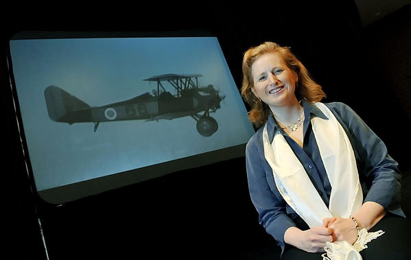 "Heather Taylor, researched, wrote, directed and produced the award-winning film, ""Breaking Through the Clouds: The First Women's National Air Derby."""