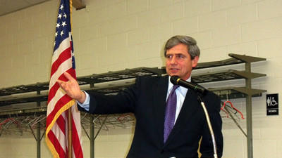 Former U.S. Rep. Joe Sestak was the keynote speaker at the Somerset County Democratic Party spring banquet Thursday evening.