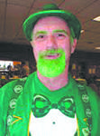 Maugansville Ruritan Club member Mike Danley went all-out to celebrate St. Patrick's Day.