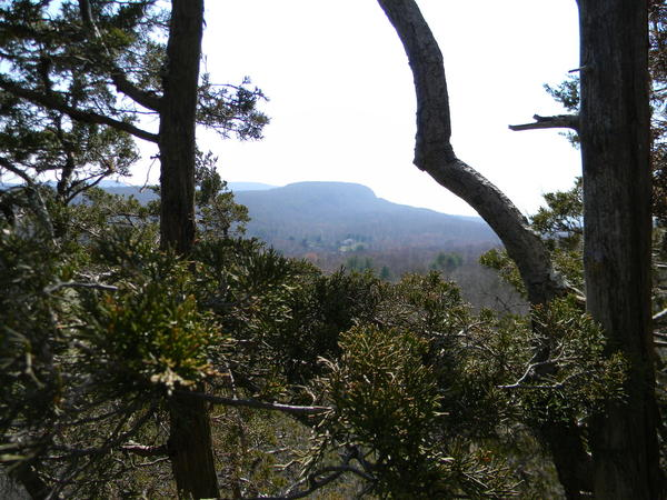 The Hanging Hills of Meriden and Middlefield can be seen from the top of Short Mountain.