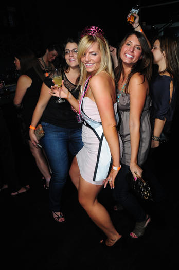 A bachelorette party hits the dance floor at downtown club Proof.