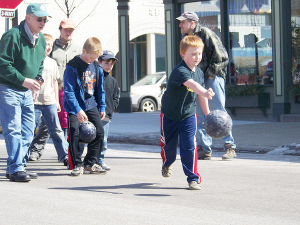 It's quiet this time of year in Harbor Springs. The ski season is over and many families are away on spring break. So quiet in fact, you can roll a bowling ball down Main Street.