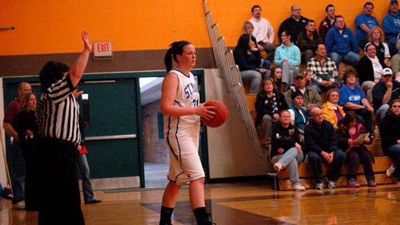 With 1,038 career points, St. Mary senior Karli Jacob is tied for No. 5 in school history in points.