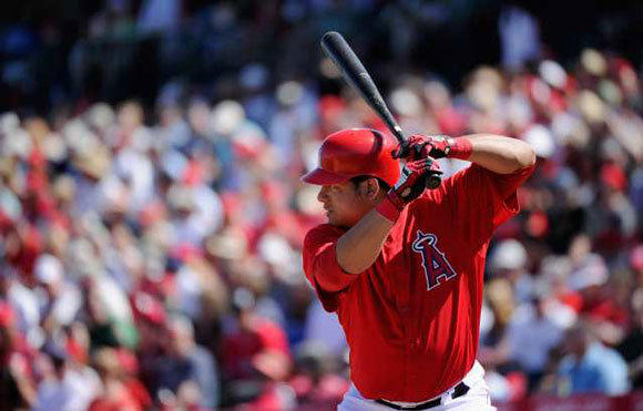 Outfielder Bobby Abreu was summoned to a meeting with Manager Mike Scioscia and General Manager Jerry Dipoto.
