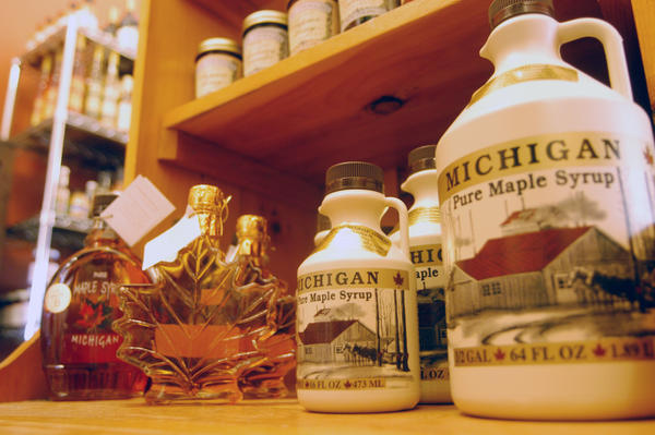 Local maple syrup is for sale at Boyne Country Provisions in downtown Boyne City. Those eager for fresh and local maple syrup should hit the shops or roadside stands soon because experts say this season isnt very sweet.