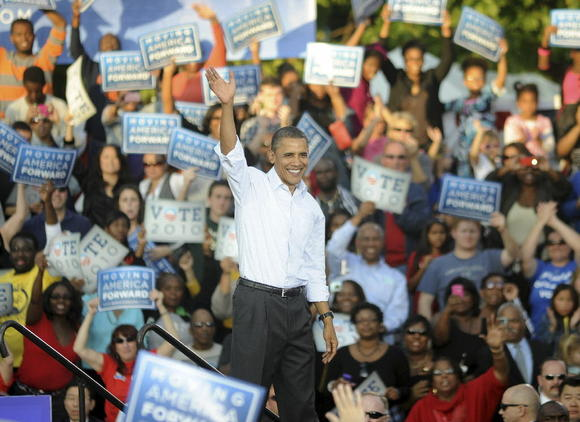 Barack Obama in Philadelphia in 2010