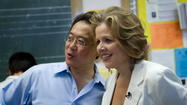 Yo-Yo Ma and Renee Fleming visit Lake View High School in Chicago