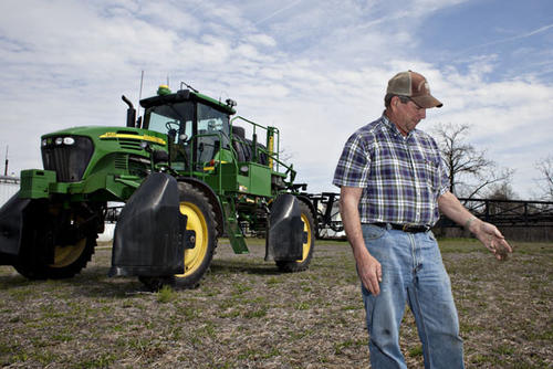 "Robbie Taylor relies on phosphorus and other components of fertilizer to grow cotton, soybeans and other crops on more than 2,300 acres in Isle of Wight County. ""This is my life,"" he said grabbing a handful of soil. ""I'm not going to do anything to destroy it."""