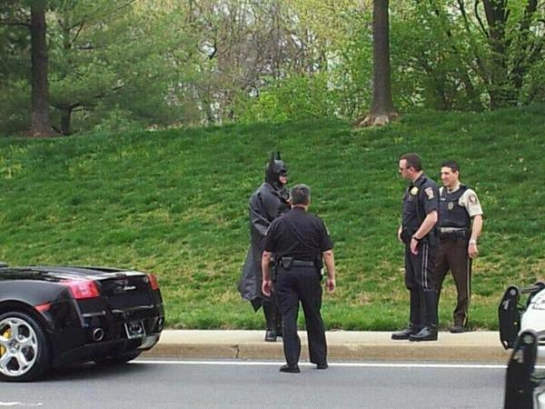 Batman pulled over by Montgomery County police