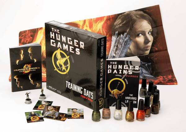 """The Hunger Games"" has inspired a board game, posters, books, toys, nail polish and trading cards."