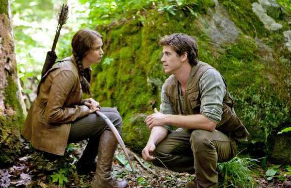 "Katniss Everdeen (Jennifer Lawrence) and Gale Hawthorne (Liam Hemsworth) in ""The Hunger Games."""