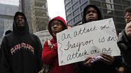Protest about Trayvon Martin case