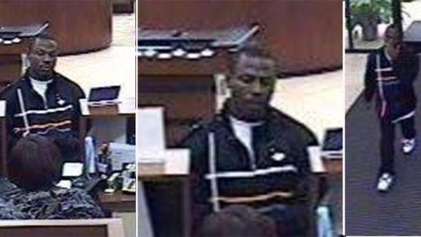 Surveillance photos of a man who robbed an Albany Park bank March 23.