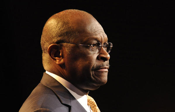 Former Republican candidate Herman Cain speaks at Pennsylvania Leadership Conference in Camp Hill Saturday.
