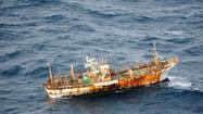 A 150-foot Japanese fishing vessel that was washed away last year in Japan's major earthquake and tsunami has traveled across the Pacific Ocean and is about 120 nautical miles off Canada's Haida Gwaii, formerly the Queen Charlotte Islands, Sen. Maria Cantwell, D-Wash., said Friday.