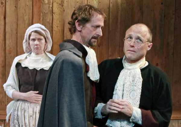 Kathleen M. Darcy, Mark Colson and Matt Foyer in the Theatre Banshee production of 'The Crucible.'