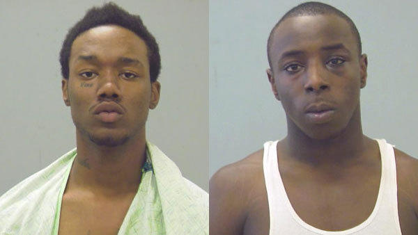 Dwayne Hatcher, left, and Daniel Davis, both 20.