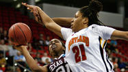 The Maryland women's basketball team was forced to come back twice from double-digit deficits Sunday in its NCAA tournament Sweet 16 game against defending national champion Texas A&M at PNC Arena.