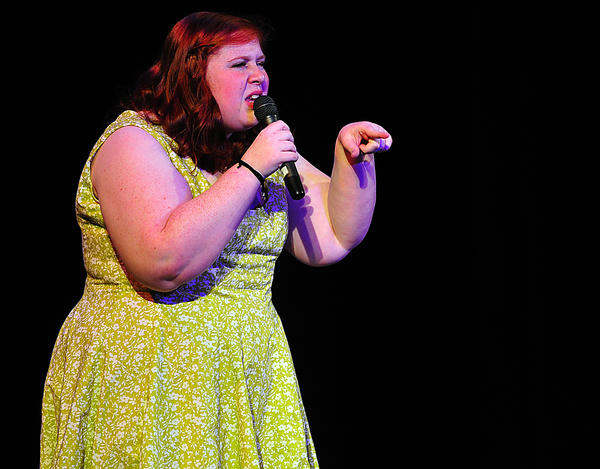 Alex Hemphill portrays the character Tracy from the musical 'Hairspray' Saturday on her way to winning Washington County Free Library's Teen Idol 2012 contest at The Maryland Theatre in Hagerstown.
