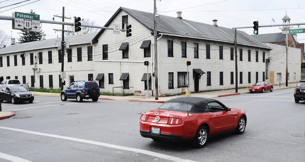 The Potomac House building at East Potomac and South Artizan streets in Williamsport, the site of a planned convenience store, is on a list of threatened historic properties in Maryland.