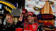 Tony Stewart wins rain-shortened Cup race at Fontana, Bowyer 14th