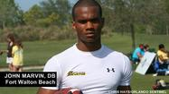 "<span style=""font-size: small;"">Fort Walton Beach defensive back <strong>John Marvin</strong> said he enjoyed his visits to USF and UCF this weekend.</span>"