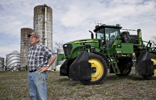 Robbie Taylor relies on phosphorus and other components of fertilizer to grow cotton, soybeans and other crops on more than 2,300 acres in Isle of Wight County.