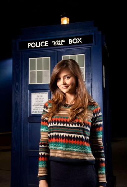 "This is the first official photo of new ""Doctor Who"" companion Jenna-Louise Coleman."