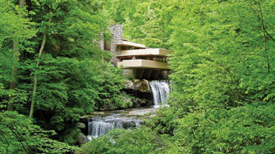 Police in southwestern Pennsylvania are investigating some vandalism at an outbuilding related to the home known as Fallingwater.