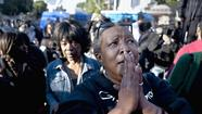 A woman takes part in the rally in Leimert Park over the fatal shooting of Trayvon Martin. (Arkasha Stevenson / Los Angeles Times / March 22, 2012)
