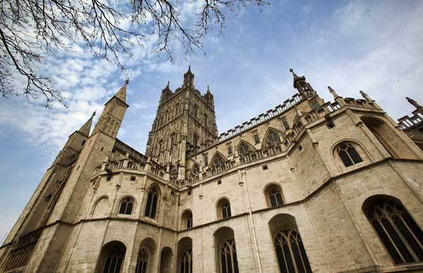 A general view of Gloucester Cathedral is seen on March 22, 2012 in Gloucester, England.