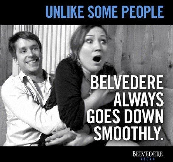 Belvedere vodka pulled this ad after consumers protested its implication of rape.
