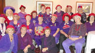 <b>We are all</b> members of the Red Hat Society, and we don't have specific rules.