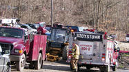 A middle-aged man was flown from A-1 Auto Wreckers in Stoystown Monday after a forklift accident. Officials said the man, whose name has not been released, was working on a forklift when a piece of the machine fell on top of him. He suffered several injuries, including a leg injury and an arm fracture, according to Stoystown fire Chief Dave Johnson. The man was flown to Conemaugh Memorial Medical Center, Johnstown, to be treated for his injuries. Stoystown fire department, Hooversville rescue, Boswell ambulance, Conemaugh Township EMS and Shade Township Police Department responded to the scene, according to Somerset County Control.