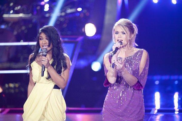 Sharon Mathai (left) and Nicolle Galyon (sans piano) sing Sara Bareilles' 'Love Song.'