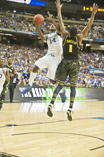 Michael Kidd-Gilchrist drives for the basket in the win over Baylor.