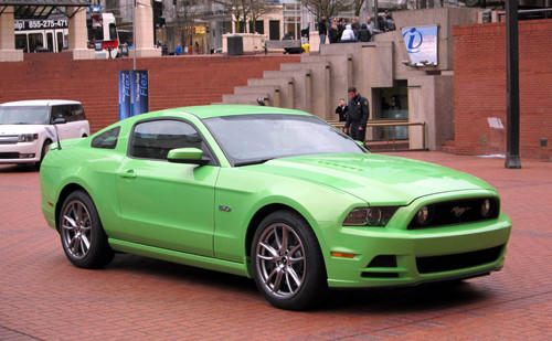 "V-6 and V-8 coupes and convertibles are on sale now, as is the V-8 Mustang Boss 302 coupe. The 650-horsepower <a href=""/classified/automotive/chi-2011-ford-mustang-shelby-photos-081210,0,6882403.photogallery"">Shelby GT500</a> arrives this summer. I took to the hills west of Portland, Ore., in a stick-shift Mustang V-6 coupe with the 2.73 rear axle and then drove neighborhood streets as engineering manager Tom Barnes sat shotgun in a stick-shift 3.73 GT coupe."