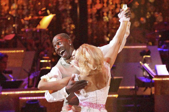 "Donald Driver and partner Peta Murgatroyd compete on ""Dancing with the Stars"" on Monday."