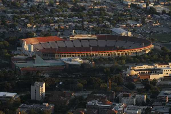 A file photo of the Los Angeles Memorial Coliseum in 2010.