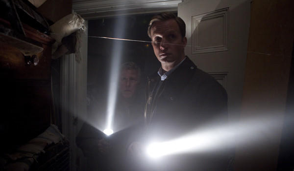"Phil Davis (back) and Rupert Penry-Jones are on the case in ""Whitechapel."""