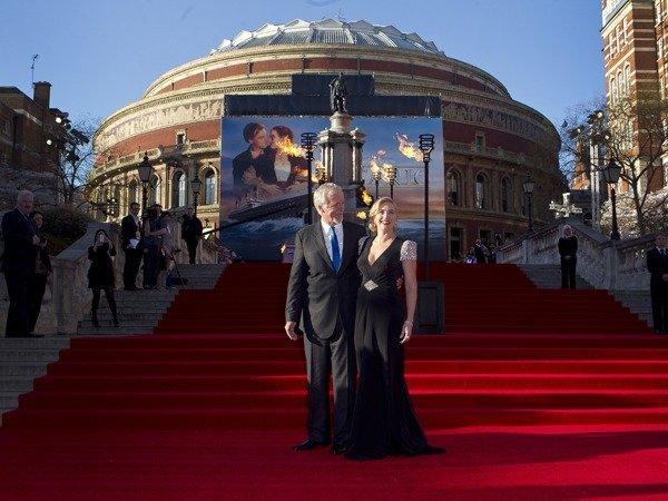 "James Cameron resurrected his 1997 blockbuster ""Titanic"" on Tuesday at the Royal Albert Hall -- this time in 3-D. The re-release comes 100 years after the luxury ocean liner met its icy demise."