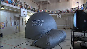Mobile planetarium visits Lynchburg school