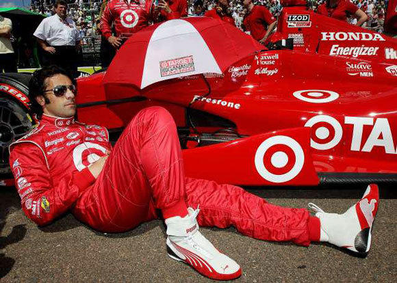 Dario Franchitti sits on pit road prior to the IZOD IndyCar Series Honda Grand Prix of St Petersburg on March 25.